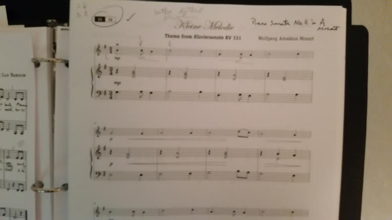 Mozart Score 1